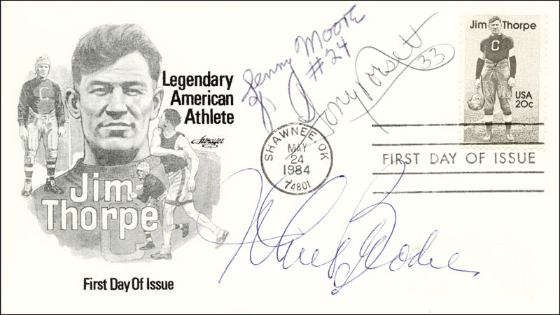 Image 1 for Tony Dorsett - First Day Cover Signed co-signed by: John Brodie, Leonard E. Moore - HFSID 223474