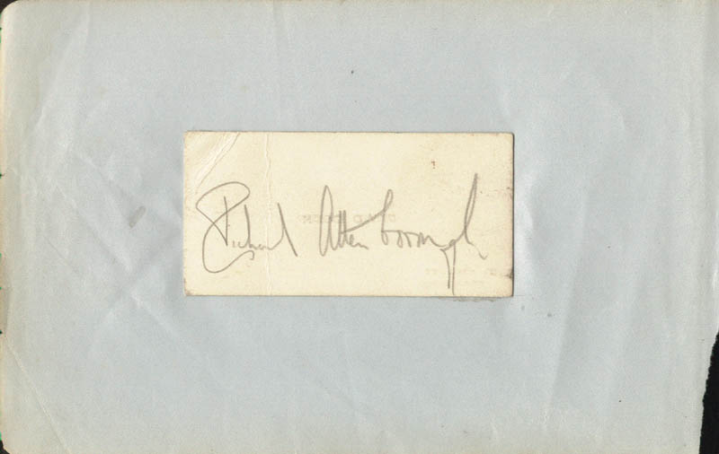 Image 1 for Sir Richard Attenborough - Autograph - HFSID 223523