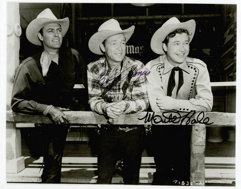 ba4efad9861 ROY ROGERS - PHOTOGRAPH SIGNED CO-SIGNED BY  MONTE HALE - HFSID 223550