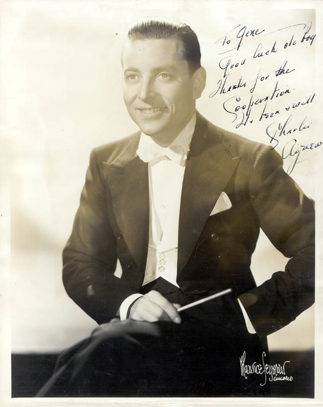 Image 1 for Charlie Agnew - Autographed Inscribed Photograph - HFSID 223601