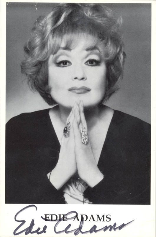 Image 1 for Edie Adams - Autographed Signed Photograph - HFSID 223748