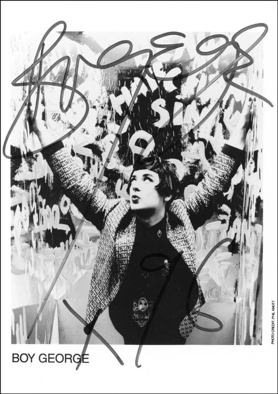 Image 1 for Boy George (George Alan O'Dowd) - Autographed Signed Photograph 1996 - HFSID 223893