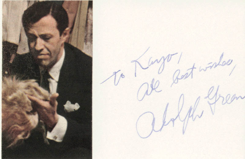 Image 1 for Adolph Green - Autograph Note Signed - HFSID 22402