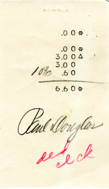 Image 1 for Paul Douglas - Receipt Signed - HFSID 224061