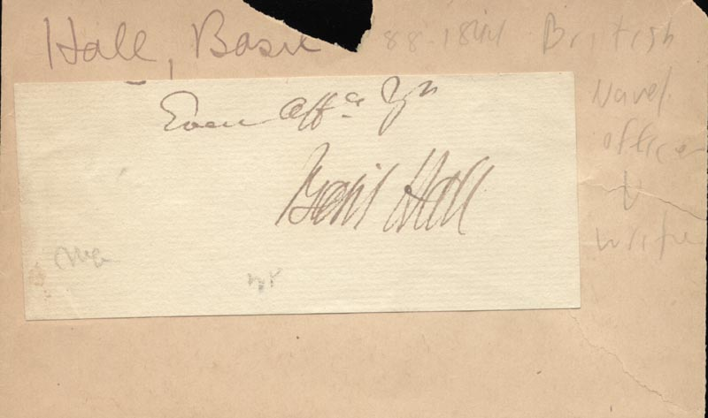 Image 1 for Basil Hall - Autograph - HFSID 224304