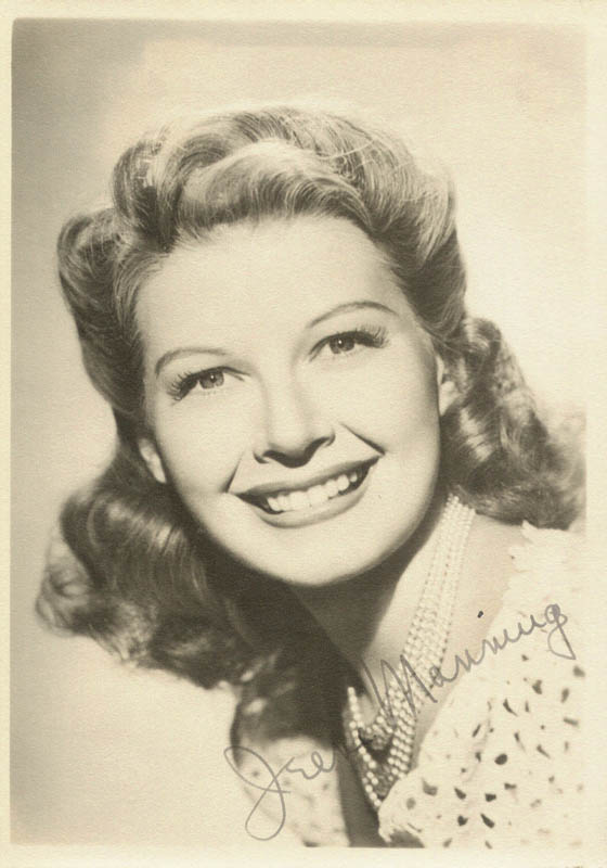 Image 1 for Irene Manning - Autographed Signed Photograph - HFSID 22432