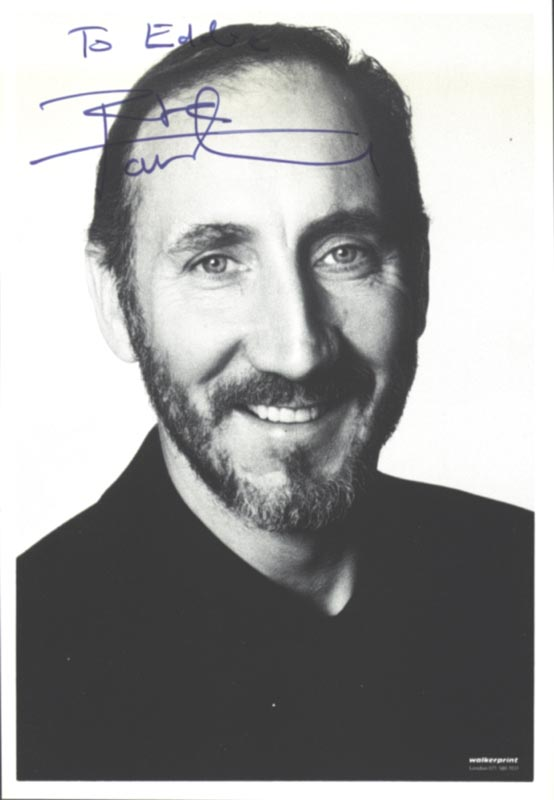 Image 1 for The Who (Peter Townshend) - Autographed Inscribed Photograph - HFSID 224531