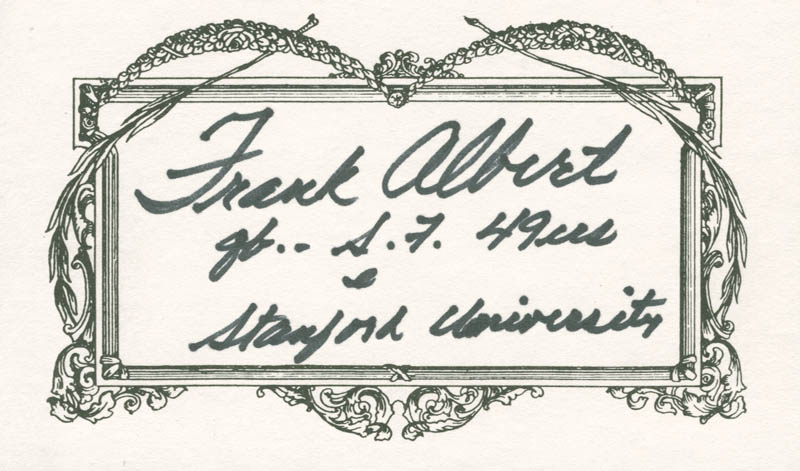 Image 1 for Frankie Albert - Autograph - HFSID 224810