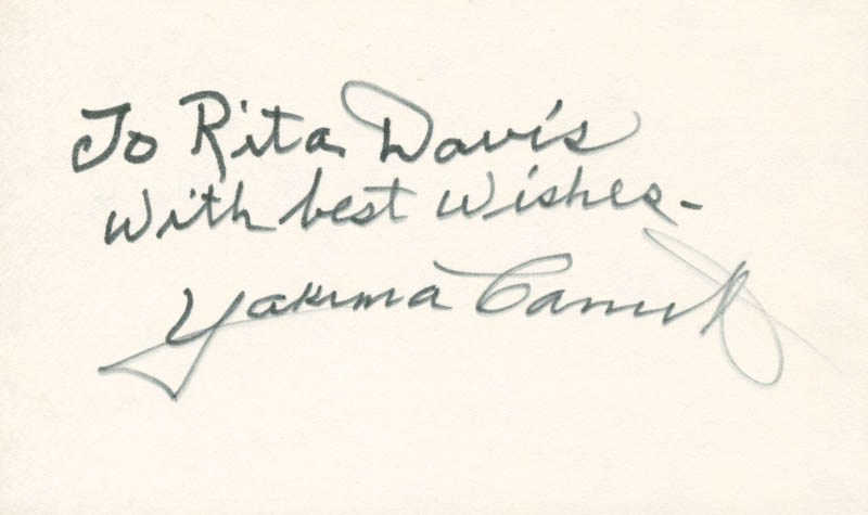 Image 1 for Yakima Canutt - Autograph Note Signed - HFSID 224816