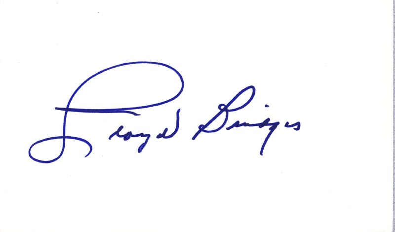 Image 1 for Lloyd Bridges - Autograph - HFSID 224818