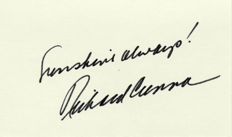 Image 1 for Richard Crenna - Autograph Sentiment Signed - HFSID 224837