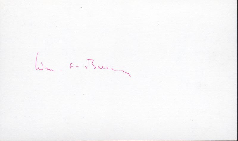 Image 1 for William F. Buckley Jr. - Autograph - HFSID 224838
