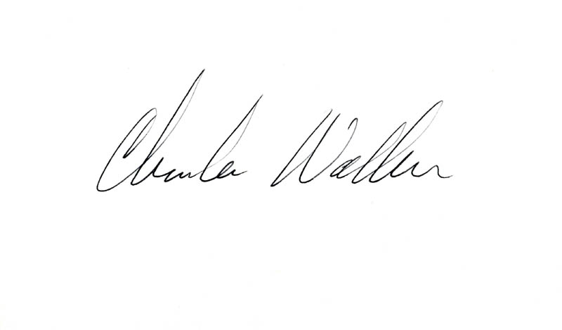 Image 1 for Charles D. Walker - Autograph - HFSID 224965