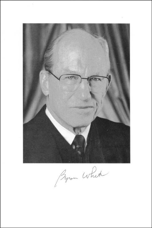 Image 1 for Associate Justice Byron R. White - Autographed Signed Photograph - HFSID 224999