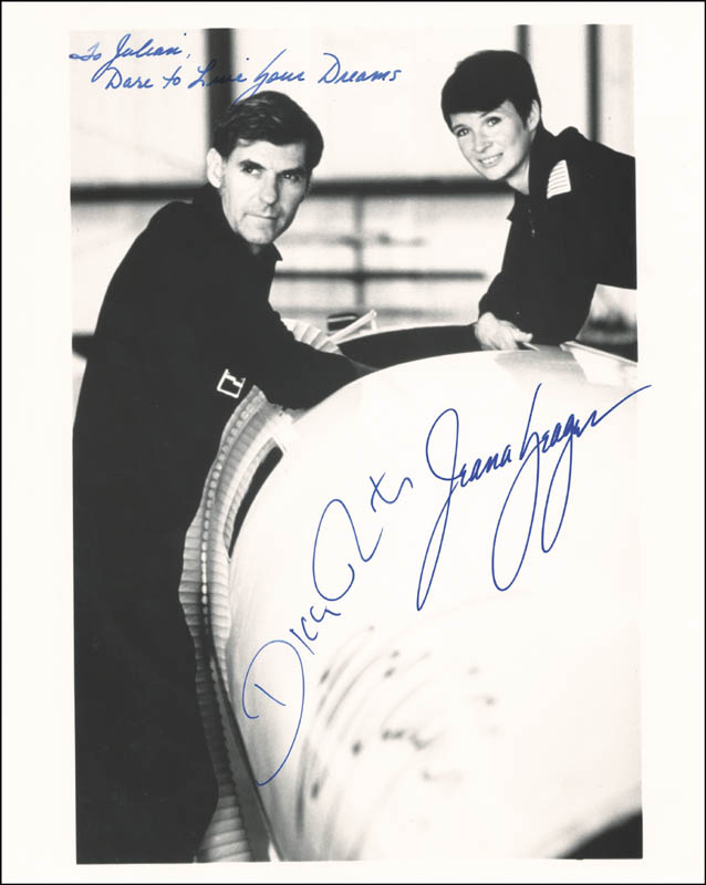 Image 1 for The Voyager Crew - Autographed Inscribed Photograph co-signed by: Jeana Yeager, Dick Rutan - HFSID 225210