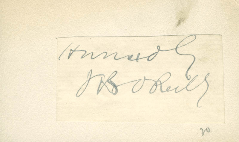 Image 1 for John Boyle O'Reilly - Autograph Sentiment Signed - HFSID 225429