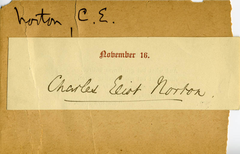 Image 1 for Charles Eliot Norton - Autograph - HFSID 225431