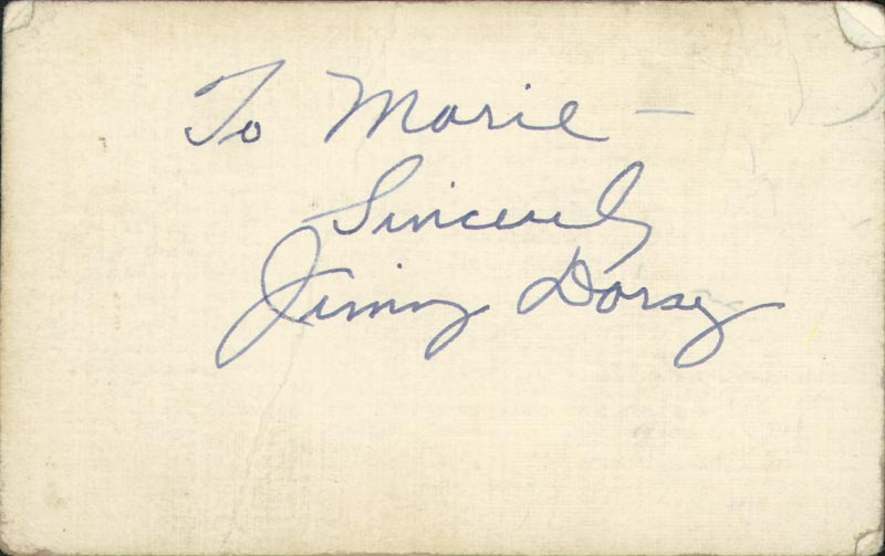 Image 1 for Jimmy Dorsey - Autograph Note Signed - HFSID 225527