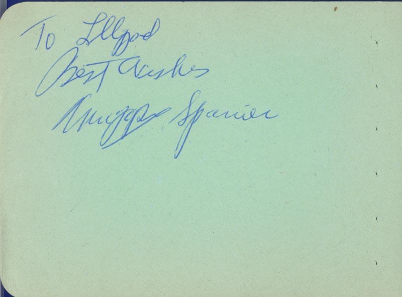 Image 1 for Francis Joseph 'Muggsy' Spanier - Autograph Note Signed co-signed by: Orrin Tucker - HFSID 225532