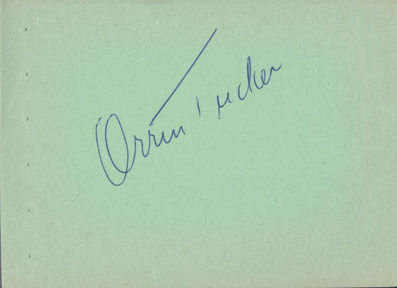 Image 3 for Francis Joseph 'Muggsy' Spanier - Autograph Note Signed co-signed by: Orrin Tucker - HFSID 225532