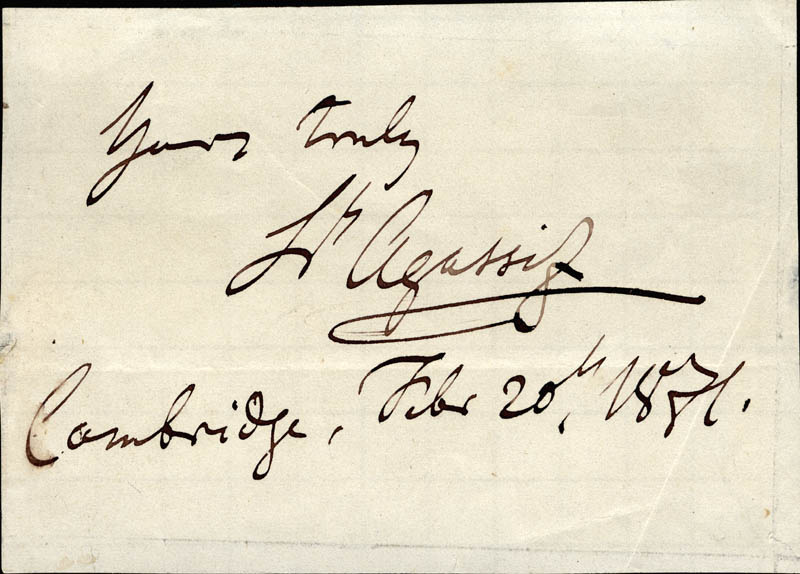 Image 1 for Louis Agassiz - Autograph Sentiment Signed 02/20/1851 - HFSID 225653