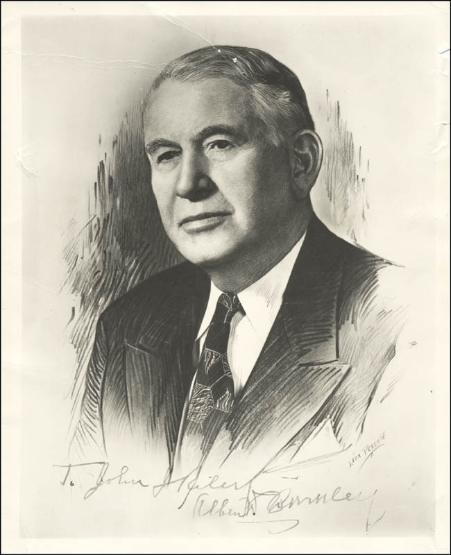 Image 1 for Vice President Alben W. Barkley - Autographed Inscribed Photograph - HFSID 225862