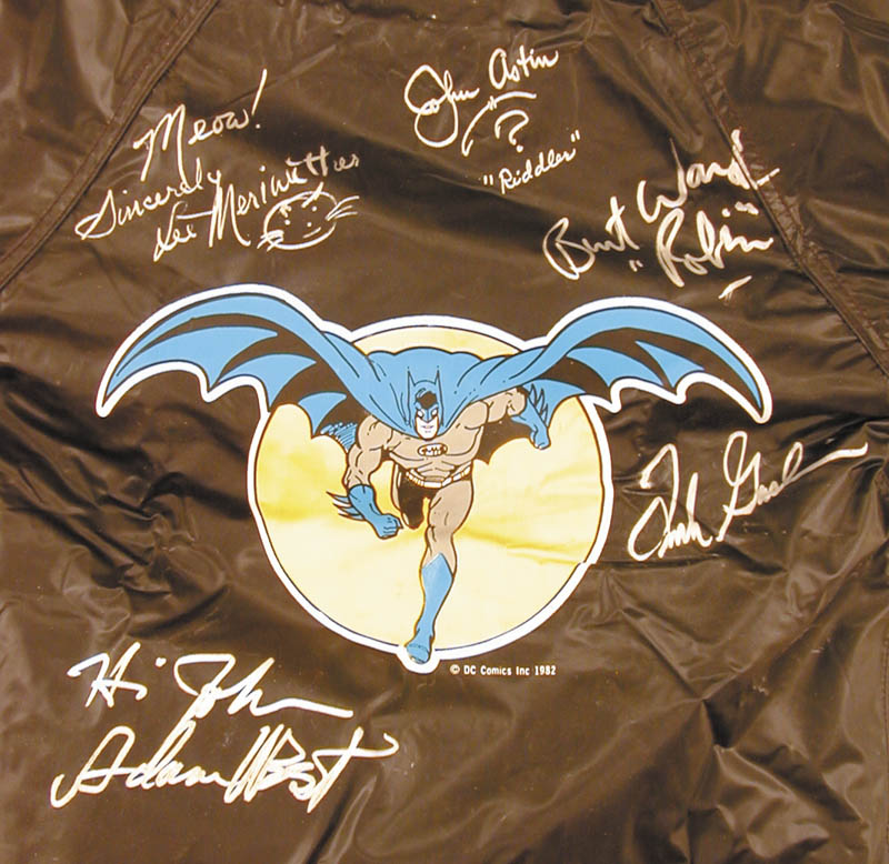 Image 3 for Batman TV Cast - Jacket Signed co-signed by: Burt Ward, Lee Meriwether, Frank Gorshin, John Astin, Adam West - HFSID 225919