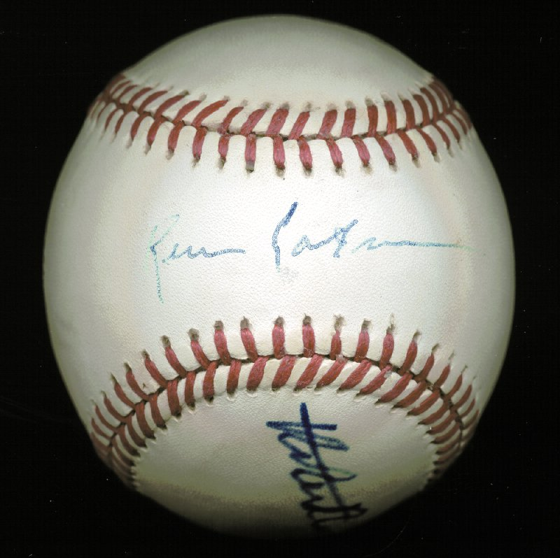 Image 1 for Robert Redford - Autographed Signed Baseball co-signed by: Kevin Costner - HFSID 225925