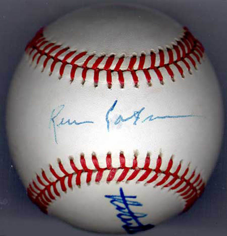 Image 4 for Robert Redford - Autographed Signed Baseball co-signed by: Kevin Costner - HFSID 225925