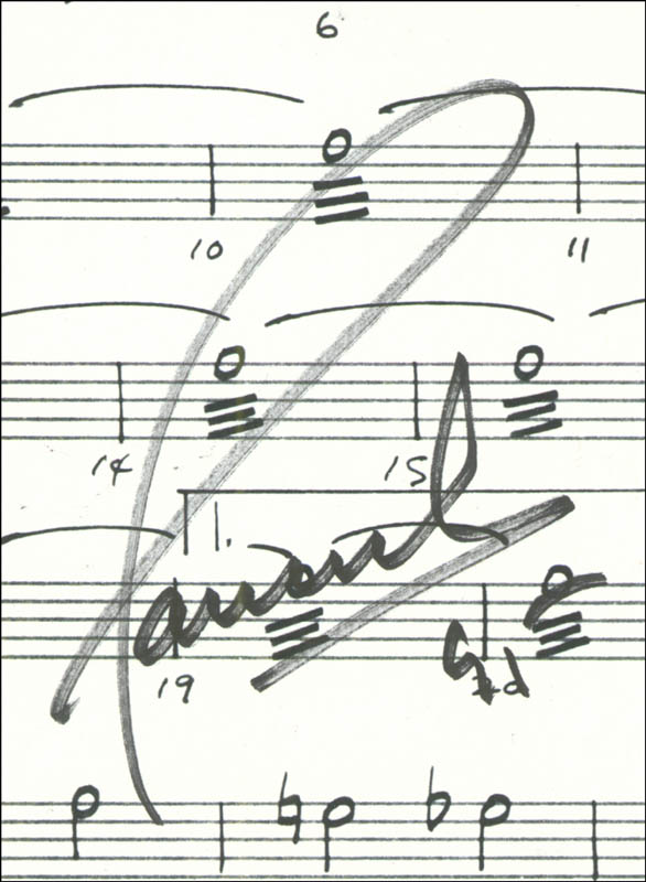 Image 3 for Paul Anka - Sheet Music Signed 1991 - HFSID 225958