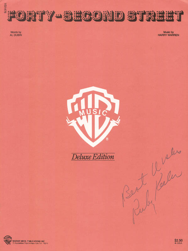 Image 1 for Ruby Keeler - Sheet Music Signed - HFSID 225963