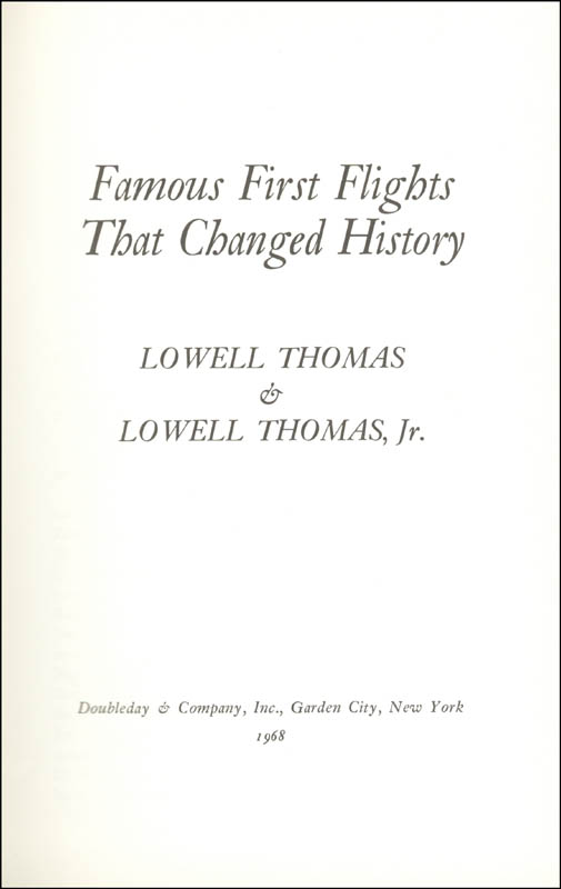 Image 4 for Lowell Thomas - Book Signed Circa 1968 - HFSID 226060