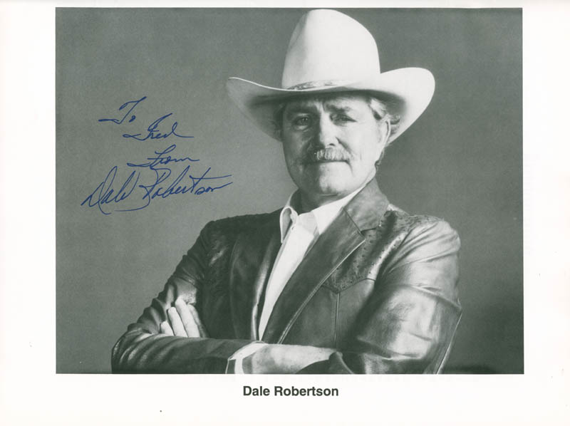Image 7 for Dale Robertson - Inscribed Program Signed 1991 co-signed by: Jennifer Holt, Don Durant, R. G. (Robert Golden) Armstrong, Whitey Hughes - HFSID 226089