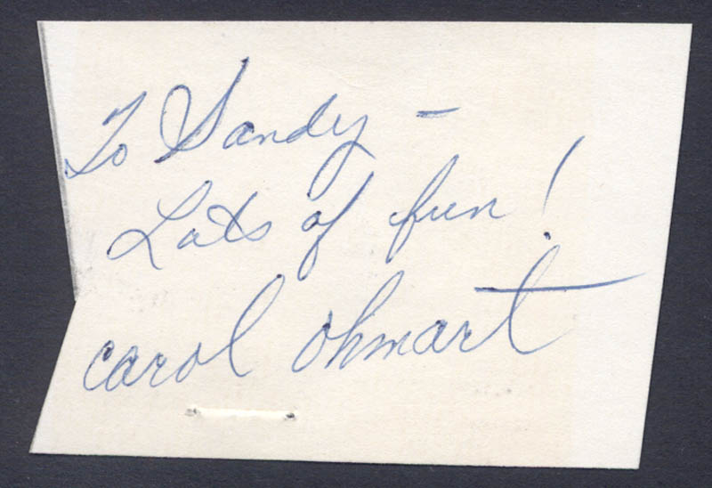 Image 1 for Carol Ohmart - Autograph Note Signed - HFSID 22622