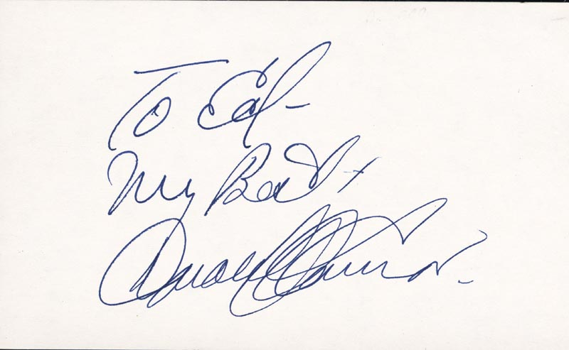 Image 1 for Donald O'Connor - Autograph Note Signed - HFSID 22629