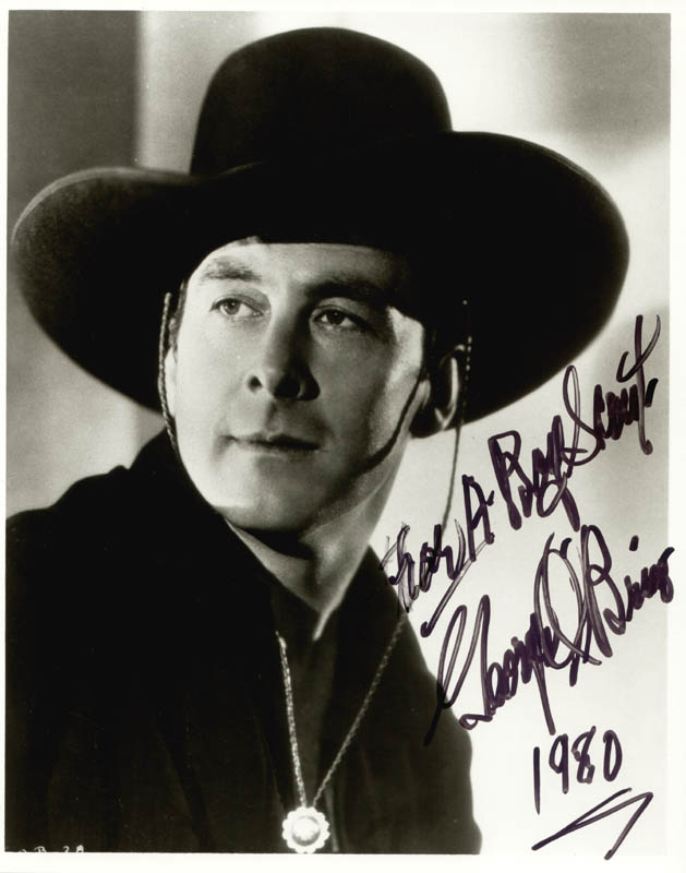 Image 1 for George O'Brien - Autographed Inscribed Photograph 1980 - HFSID 22633