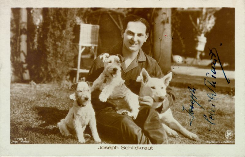 Image 1 for Joseph Schildkraut - Picture Post Card Signed - HFSID 226445