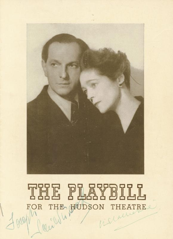 Image 1 for The Playbill Play Cast - Show Bill Signed co-signed by: Eva Le Gallienne, Joseph Schildkraut - HFSID 226446