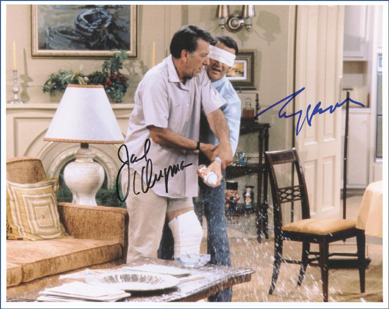 Image 1 for The Odd Couple TV Cast - Autographed Signed Photograph co-signed by: Jack Klugman, Tony Randall - HFSID 226470