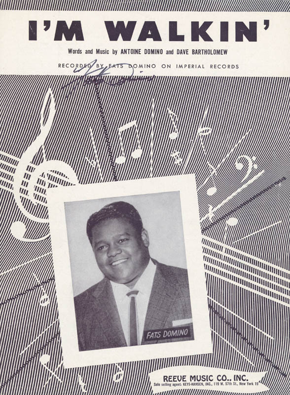 Image 1 for Fats Domino - Sheet Music Signed - HFSID 226528