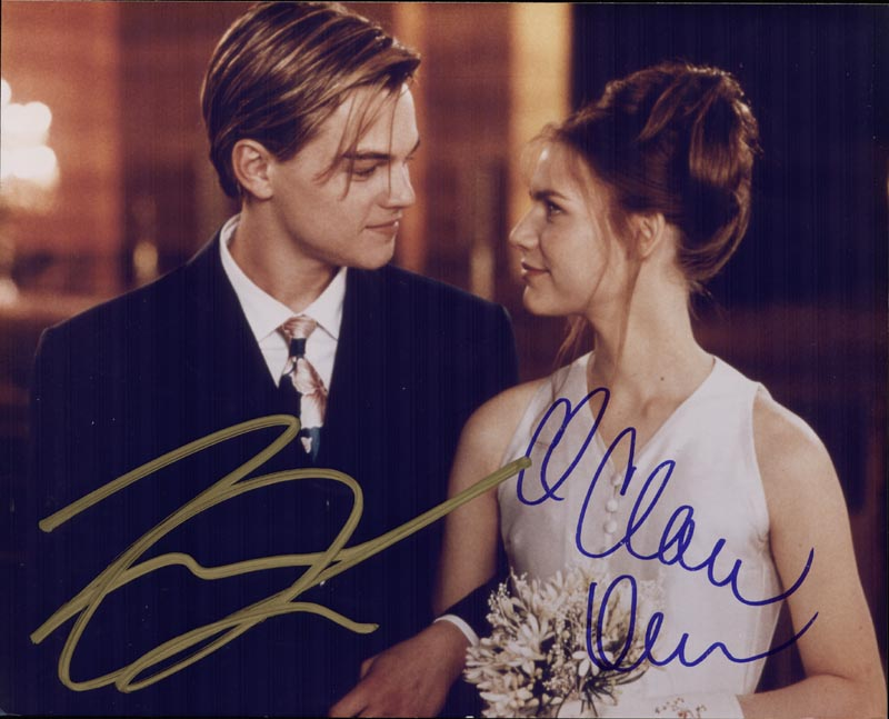 Image 1 for William Shakespeare'S Romeo & Juliet - Autographed Signed Photograph co-signed by: Leonardo Di Caprio, Claire Danes - HFSID 226709