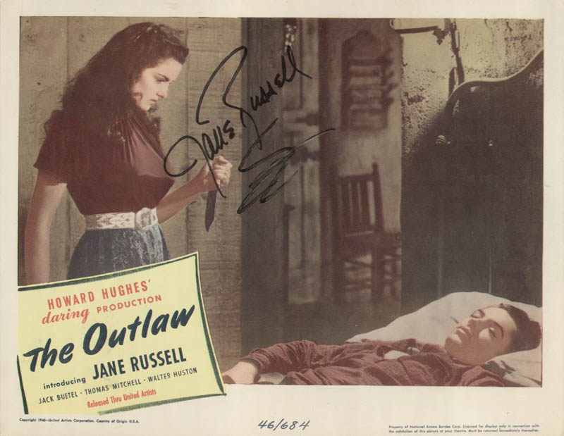 Image 1 for Jane Russell - Lobby Card Signed Circa 1946 - HFSID 226774