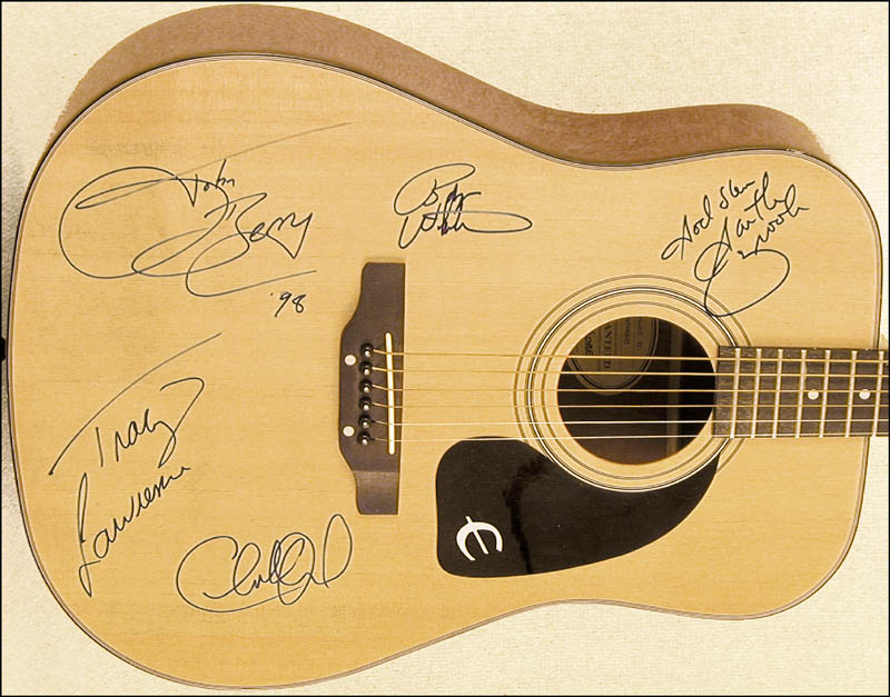 Image 3 for Garth Brooks - Guitar Signed 1998 co-signed by: Charlie Daniels, Tracy Lawrence, Bryan White, John Berry - HFSID 226790