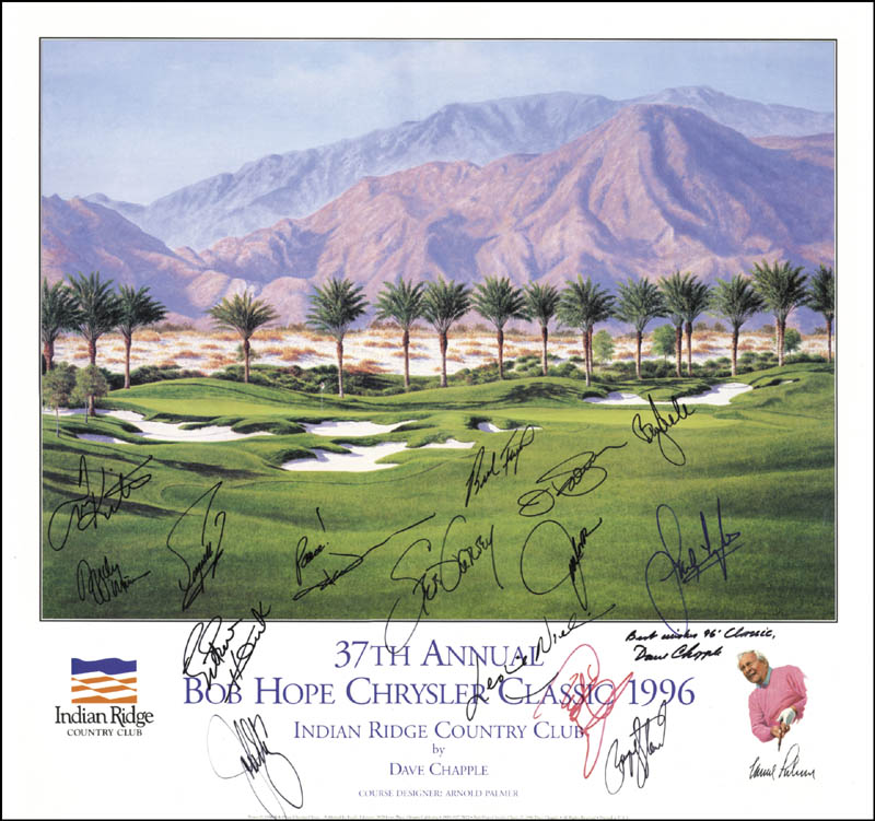 Image 1 for Payne Stewart - Autographed Signed Poster 1996 with co-signers - HFSID 226796