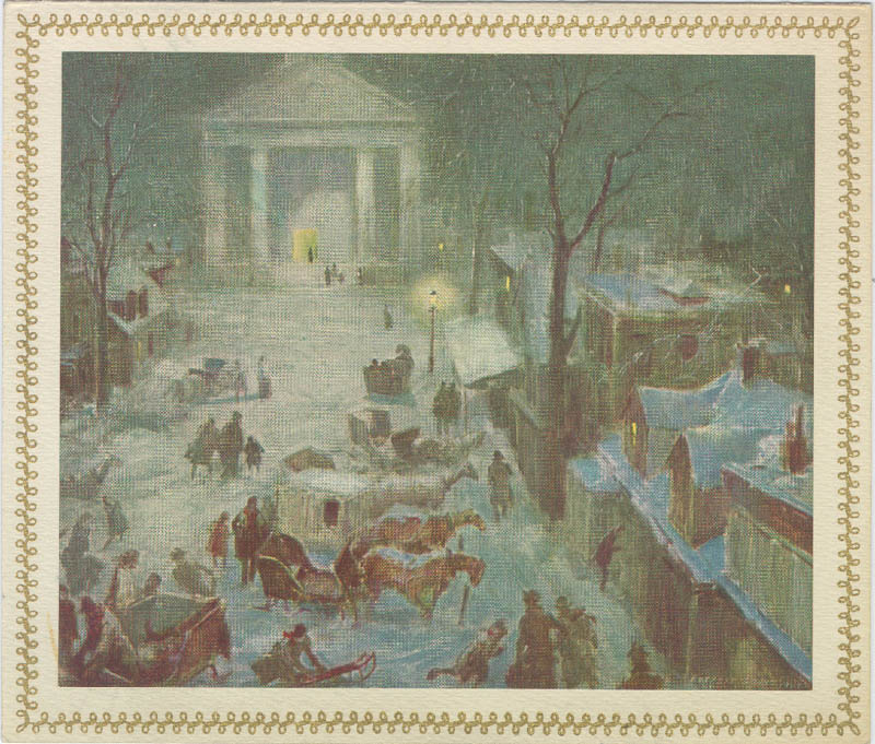 Image 1 for Everett Shinn - Christmas / Holiday Card Signed - HFSID 226840