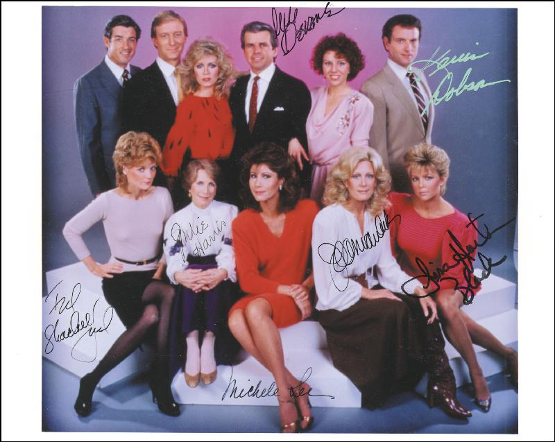 Image 1 for Knots Landing TV Cast - Autographed Signed Photograph with co-signers - HFSID 227238