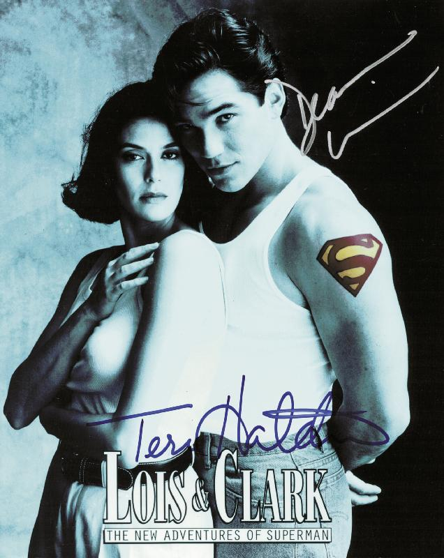 Image 1 for Lois & Clark T.V. Cast - Autographed Signed Photograph co-signed by: Dean Cain, Teri Hatcher - HFSID 227240