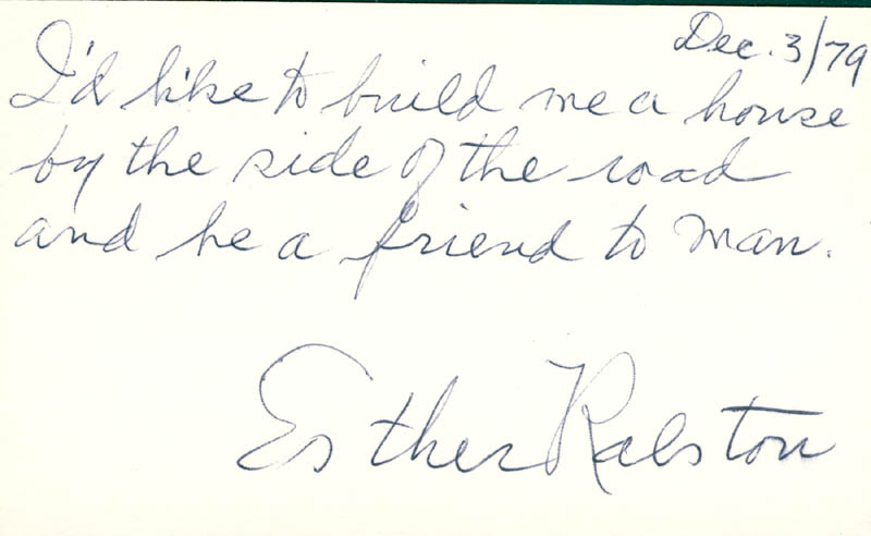 Image 1 for Esther Ralston - Autograph Note Signed 12/03/1979 - HFSID 22755