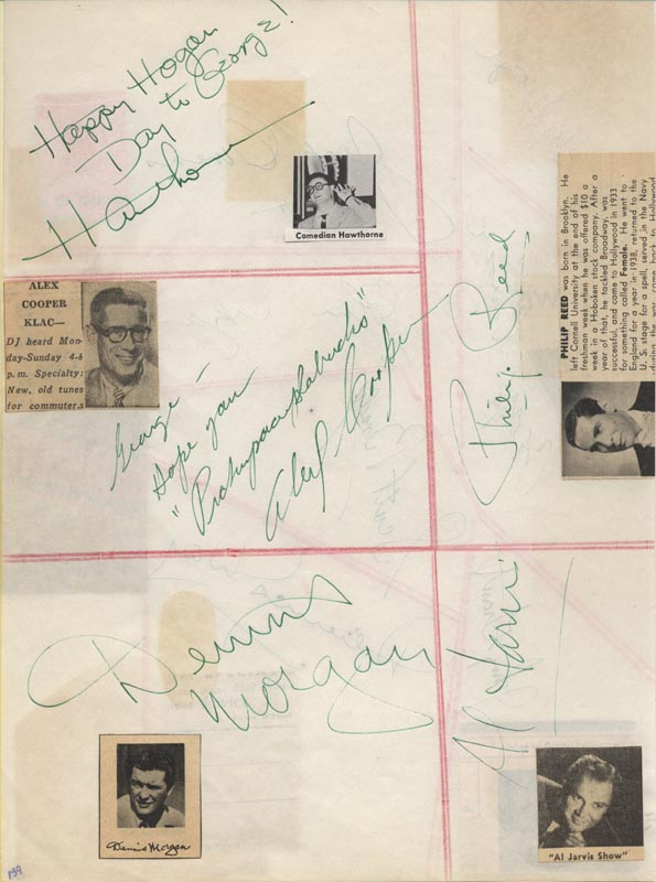 Image 3 for Dennis Day - Autograph with co-signers - HFSID 22786