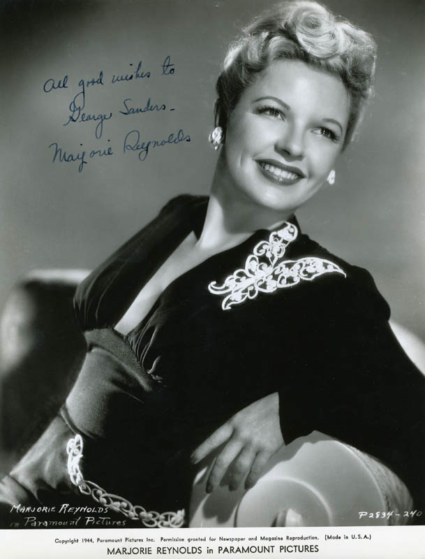 Marjorie Reynolds - Autographed Inscribed Photograph ...